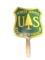 """US Forest Service Sign Paper Green - Dept of Ag 7"""" x 8"""" P19"""