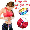 EE_ 1Pc Unisex Weight Loss Fat Burning Slimming Magnetic Ring Jewelry Flowery
