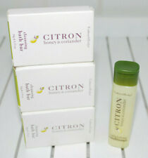 Crabtree & Evelyn Citron Honey Coriander Cleansing Bath Bars Travel Conditioner