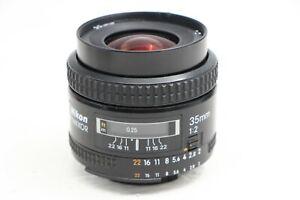 NIKON NIKKOR AF 35/2 35mm f2 LENS FOR FILM/DSLR JAPAN HN-3 HOOD FREE SHIPPING