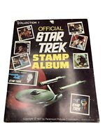 OFFICIAL STAR TREK STAMP ALBUM - COLLECTION 1 - 1977 NOT ALL STAMPS INCLUDED
