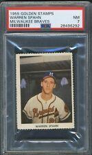 1955 Golden Stamps Braves Warren Spahn  - PSA 7