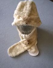 Babypelzmütze mit Schal, Fellmütze Mütze, 2er Set, Größe 51, Marke *Ergee*