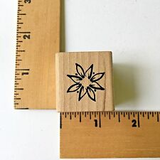 Magenta Rubber Stamps - Open Outline Flower E.0319 - NEW