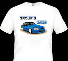 BROCK VK  GROUP A  'SS'  GROUP 3   WHITE  TSHIRT BIG FIT (4 CAR COLOURS)