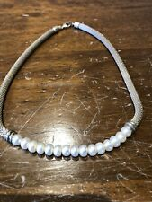 Honora Pearl And Silver Necklace
