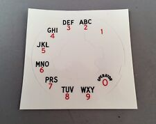 Reproduction Western Electric 164A Dial Plate Overlay - SKU - 20696