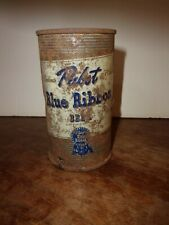 1940s Pbr can with bullet holes Antique Flat top can Pabst Blue Ribbon Gonzo Art