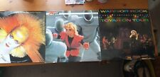 TOYAH, WARRIOR ROCK/LOVE IS THE LAW/THUNDER IN THE MOUNTAINS, VINYL LPS.