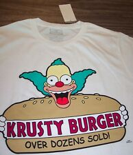 THE SIMPSONS KRUSTY THE CLOWN Krusty Burger T-Shirt MEDIUM NEW w/ TAG