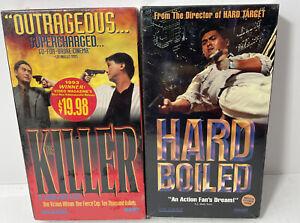 John Woo Chow Yun Fat Hard Boiled & The Killer NEW Sealed RARE 2 VHS Lot