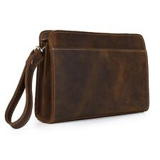 Retro Genuine Leather Men's Wallet Bifold Travel Shopping Clutch Handbag Purse
