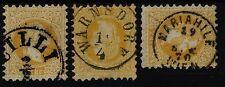 ÖSTERREICH 1867 3Marke: alle 2kr, gelb, Schöne/lesbare Stempeln.