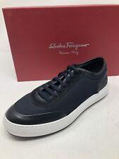 $750 New Salvatore Ferragamo Mens Blue Shoes Sneakers Size 7 US 6 UK 40 EU