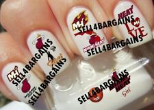 NBA MIAMI HEAT Basketball Logos》10 Different Designs》Nail Art Decals