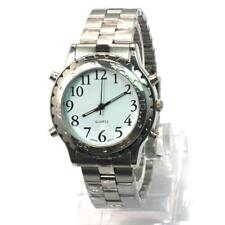 English Talking Watch Voice wristwatch Silver for Blind Person & Elderly FT