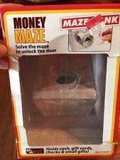 Cube Puzzle Money Maze Bank Saving Coin Collection Case Box Kids Game Gift