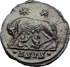 CONSTANTINE I the GREAT 330AD Romulus Remus WOLF Rome Ancient Roman Coin i63270