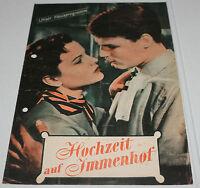 Unser Hausprogramm - HOCHZEIT AUF IMMENHOF - Angelika Meissner - 1956