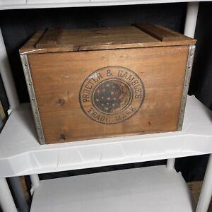 "Vintage Procter & Gamble Ivory Soap Box Wood Large Size 11 3/4"" X 17 3/4"""