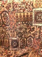 Lovely Floral Velour Tapestry Upholstery Fabric Tan,Brown,Green Peach 2 Yds NEW