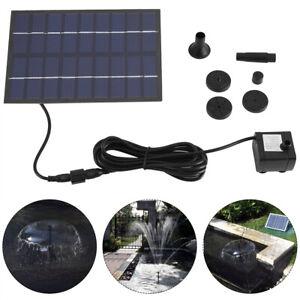 Solar Teichpumpe Wasserspiel Solarpumpe Garten Springbrunnen Solarpanel 9V 1.8W