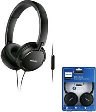"""PHILIPS Wired On-Ear Headphone with Mic ETRA Bass """"NEW Sealed Package"""""""