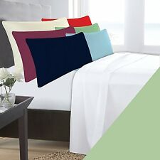 DOUBLE BED WILLOW MINT BASE VALANCE SHEET POLYCOTTON 180 THREAD COUNT PERCALE
