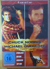 Chuck Norris vs. Michael Dudikoff Collection (DVD) 4 Filme, 264min -NEU&OVP (I6)