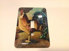 Rooster Metal Light Switch Plate Cover Single Toggle 3.5 X 5 Inch