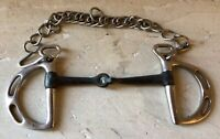 """5/"""" 5.25/"""" 3.5/"""" Derby Originals Stainless Eggbut Snaffle Bits for Bridles 3/"""""""