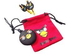 Black Angry Birds Bird Buds Gamer Earphones Headphones Nintendo iPhone Psp