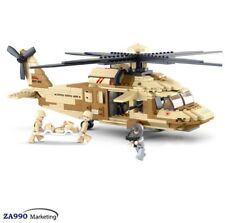439pcs Battle Military Helicopter Building Blocks Action Figure Toys Gift Kids