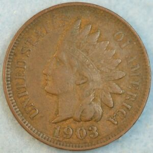 1903 Indian Head Cent Penny Liberty Very Nice Vintage Old Coin Fast S&H 34010