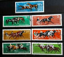 1961 Hungary Full Set 7 Stamps - Horse Sports - PC/LH
