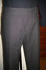 Pantalon habillé costume droit noir rayé  HUGO BOSS taille W36 ou 46FR HP15