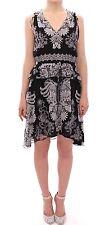 NWT $550 SACHIN & BABI Dress Silk Floral Pattern Shift Black Coctail IT40/US6/S
