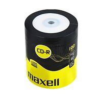 100 CD-R MAXELL BLANK DISCS RECORDABLE CD   700 MB 80 MIN 52x CDR