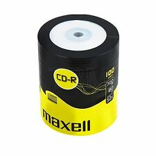 100 CD-R MAXELL BLANK DISCS RECORDABLE CD   700 MB 80 MIN 52x CDR