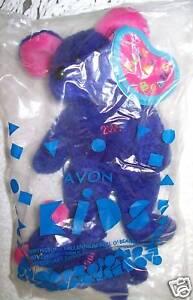 Avon Full o Beans November 2000 Millennium Cheesecake Purple Mouse Keychain Set