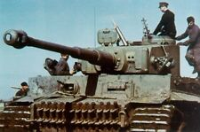 COLOR Photo, WW2 German Tiger I,  PzKpfw Mk VI, Panzer World War Two WWII