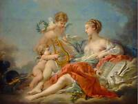 FRANCOIS BOUCHER FRENCH ALLEGORY MUSIC OLD ART PAINTING POSTER PRINT BB5365B