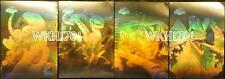 JURASSIC PARK GOLD 3-D HOLOGRAM STICKER CARDS Set of 4 + Glow In Dark Dinosaurs!