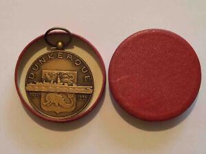 Médaille bronze lancement cuirassé DUNKERQUE - Brest 1935 - marine nationale