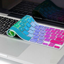 """Silicone Chic Rainbow Keyboard Skin Cover For Apple Macbook Air Mac 13""""15""""17"""" US"""