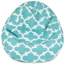 Majestic Home Teal Trellis Small Classic Bean Bag- 85907224091 NEW