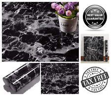 "Countertop Vinyl Self-Adhesive Film Black Marble 11.8"" x 78.7"" Contact Paper"