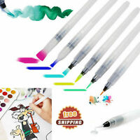 6Pcs/Set Water Color Brush Refillable Pens Watercolor Color Drawing Art Supply