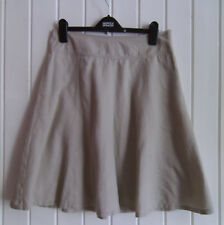 BNWOT - LADIES BIEGE KNEE-LENGTH LINEN SKIRT BY GAP SIZE 4 - UK SIZE 10-12