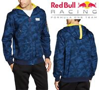 PUMA Men's Red Bull Racing Bomber Track Jacket Navy Blue Full Zip Sports Hoodie